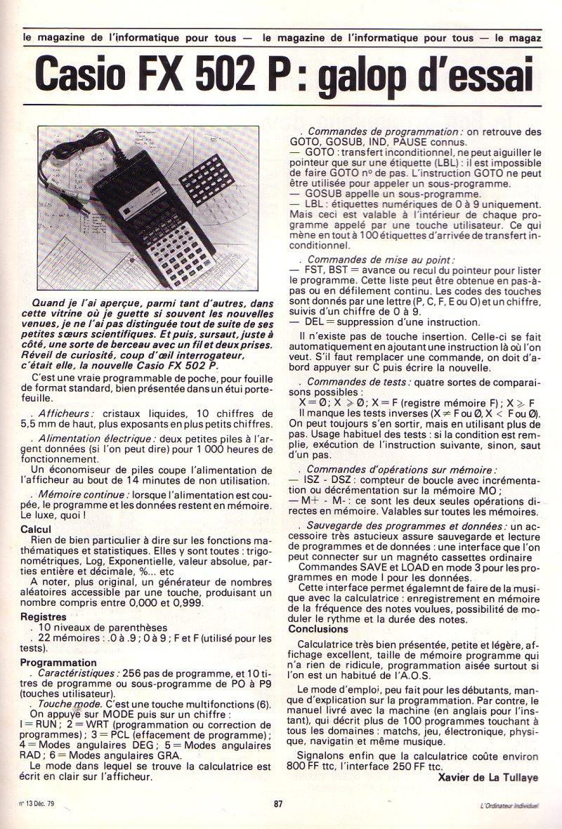 Casio FX 502P