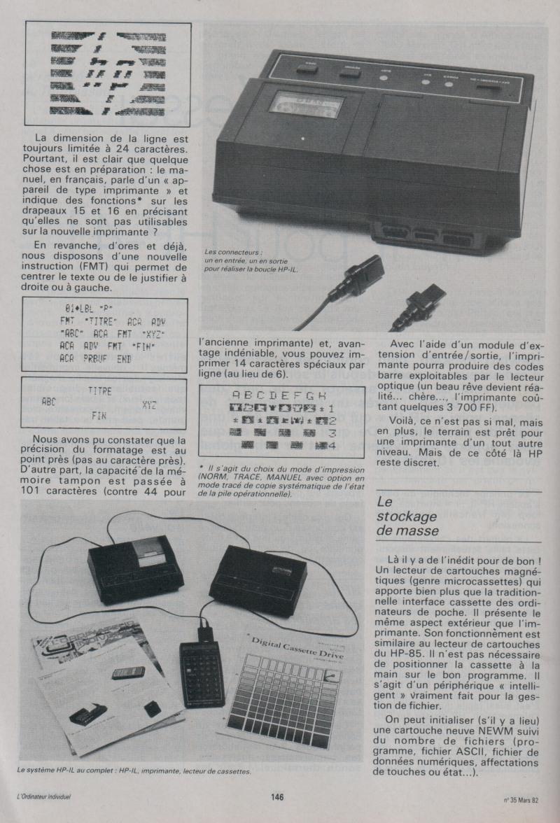 Galop d'essai - HP-IL pour HP-41