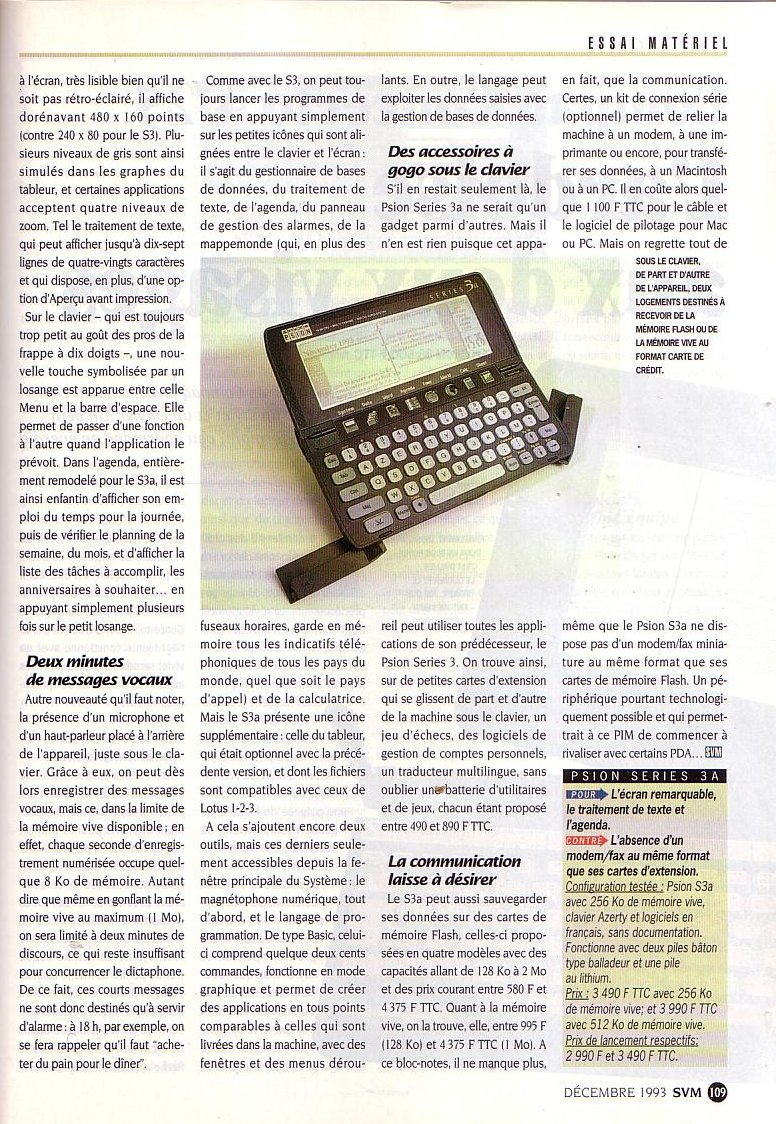 Psion Series 3a