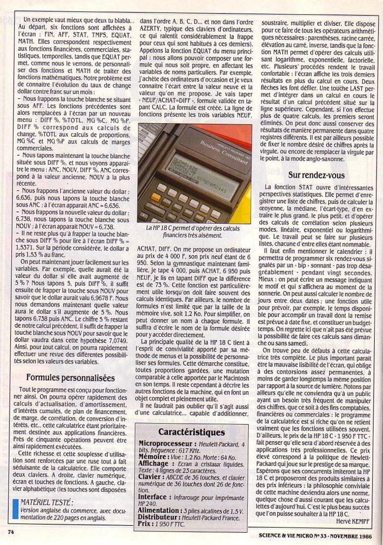 HP 18C